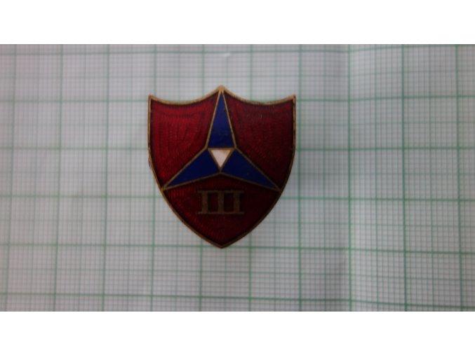 2079 smaltovany odznak usmc 3rd div usmc cervena varianta