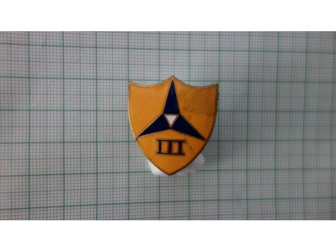 2076 smaltovany odznak usmc 3rd div usmc zluta