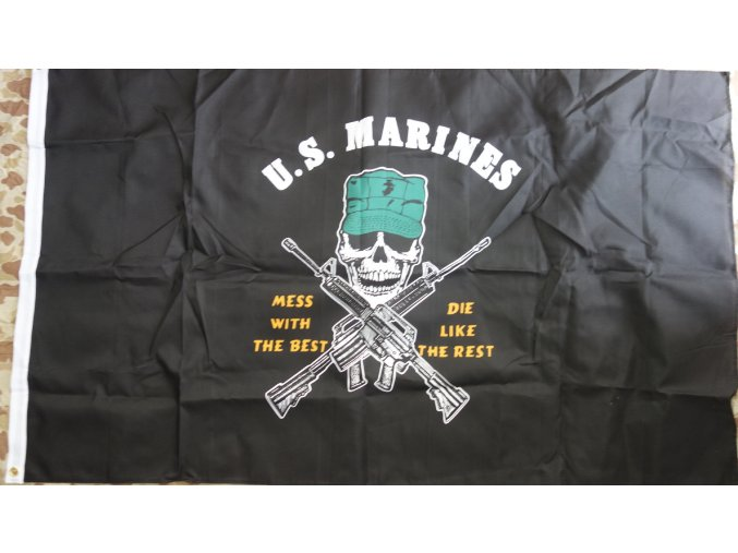 2921 vlajka usmc lebka