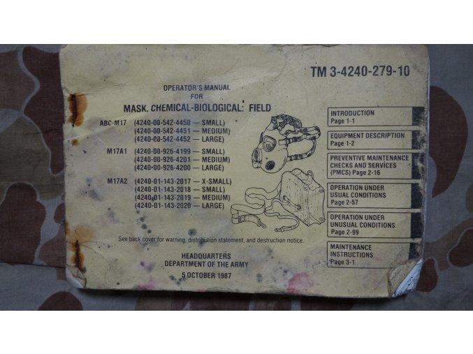 Manuál Mask Chemical-Biological Field TM 3-4240-279-10
