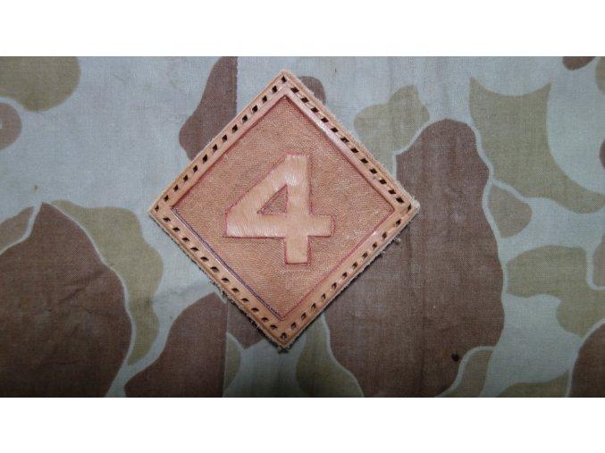 Kožená nášivka 4th USMC Div.