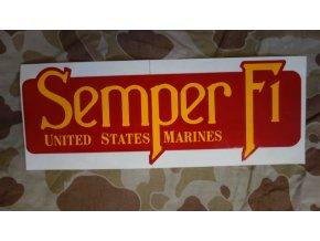 4016 nalepka usmc semper fi