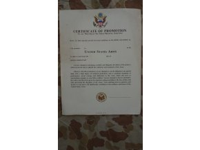 Certificate of promotion