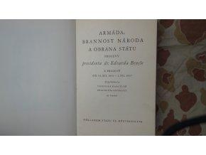 Armáda, brannost národa a obrana státu - projevy E. Beneše