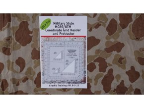 Military Style MGRS/UTM Protractor