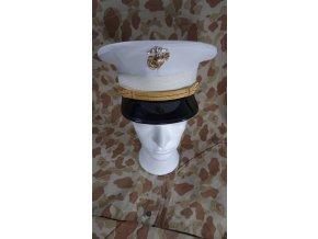 USMC důstojnická čepice bílá - nepromokavá