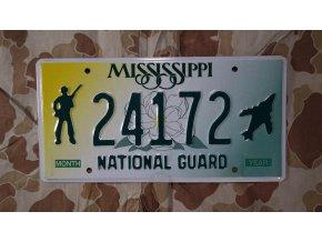 Značka na auto Mississippi National Guard
