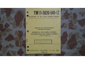 Manuál TM 11-5820-549-12 - Oct. 1966