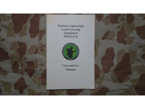 Manuál Modular Lightweight Load-Carrying Equipment MOLLE II