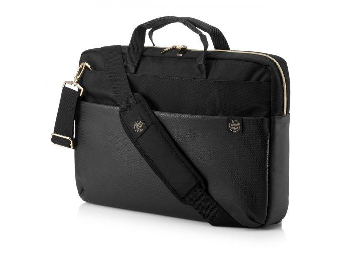 HP Pavilion Accent Briefcase 15 Black Gold 0b