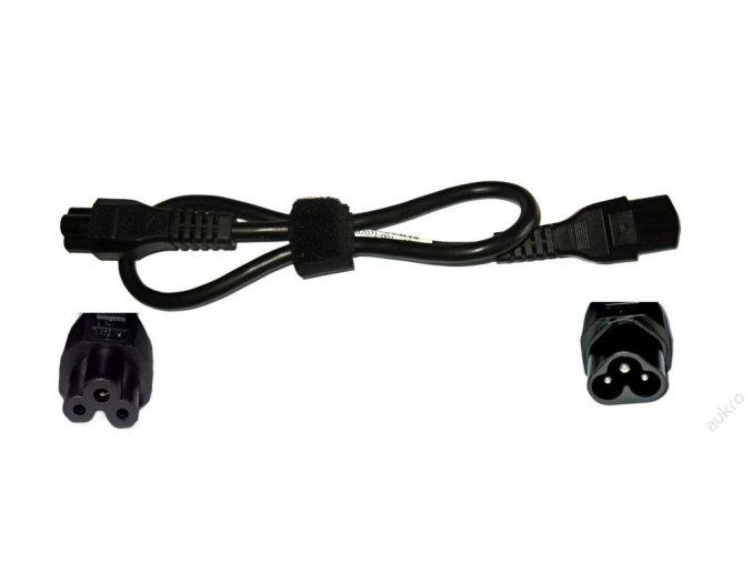 """Prodlužovací napájecí kabel k notebooku (C5 / C6, """"Mickey mouse"""")"""