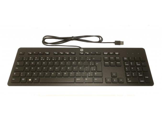 Kancelářská USB klávesnice HP Business SLIM SlimBR