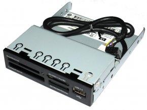 Čtečka paměťových karet SDHC/SDXC/MMC/CF včetně 1x předního USB