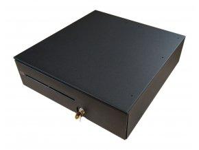 Pokladní zásuvka HP T400 s kabelem RJ12, pořadač pro 7 bankovek a 8 mincí, černá