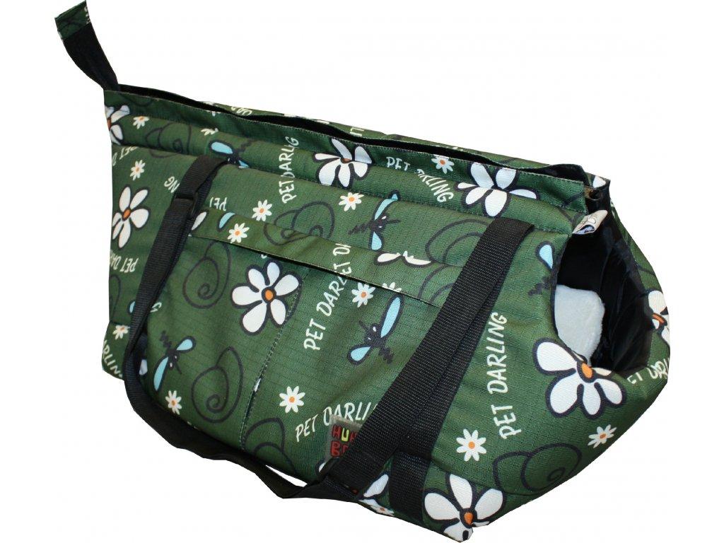 Taska Huhubamboo khaki snek 16x27cm
