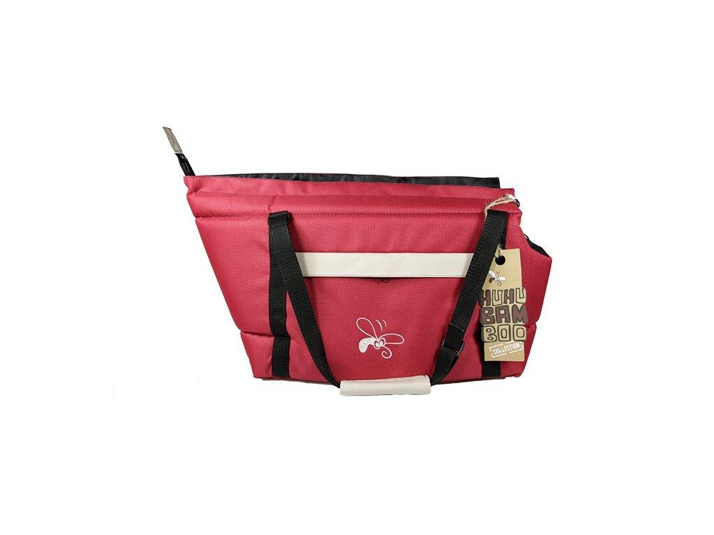 Taska Huhubamboo bordo bezova 22x33cm