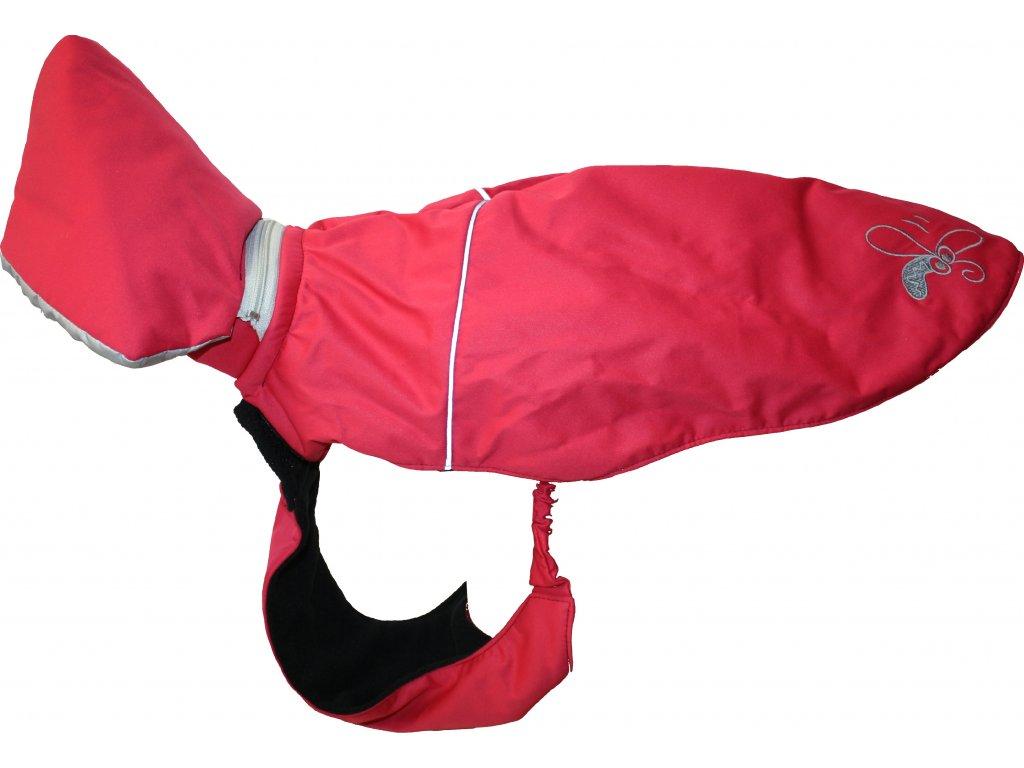 Kabat Huhubamboo cervena+seda 39cm