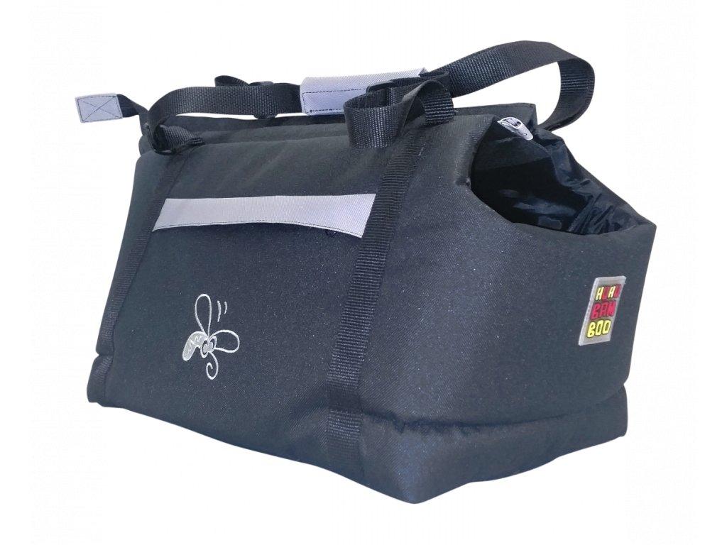Taska Huhubamboo cerna seda 22x33cm