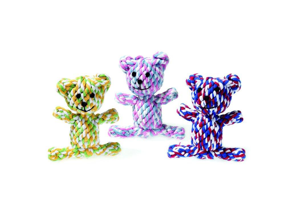Karlie bavlněná hračka medvídek pro štěňata a malé psy