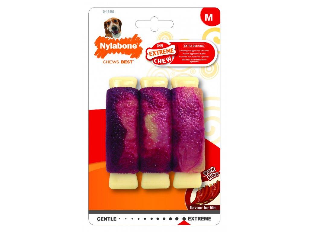 Hračka NYLAB Extreme Chew Pork Ribs M
