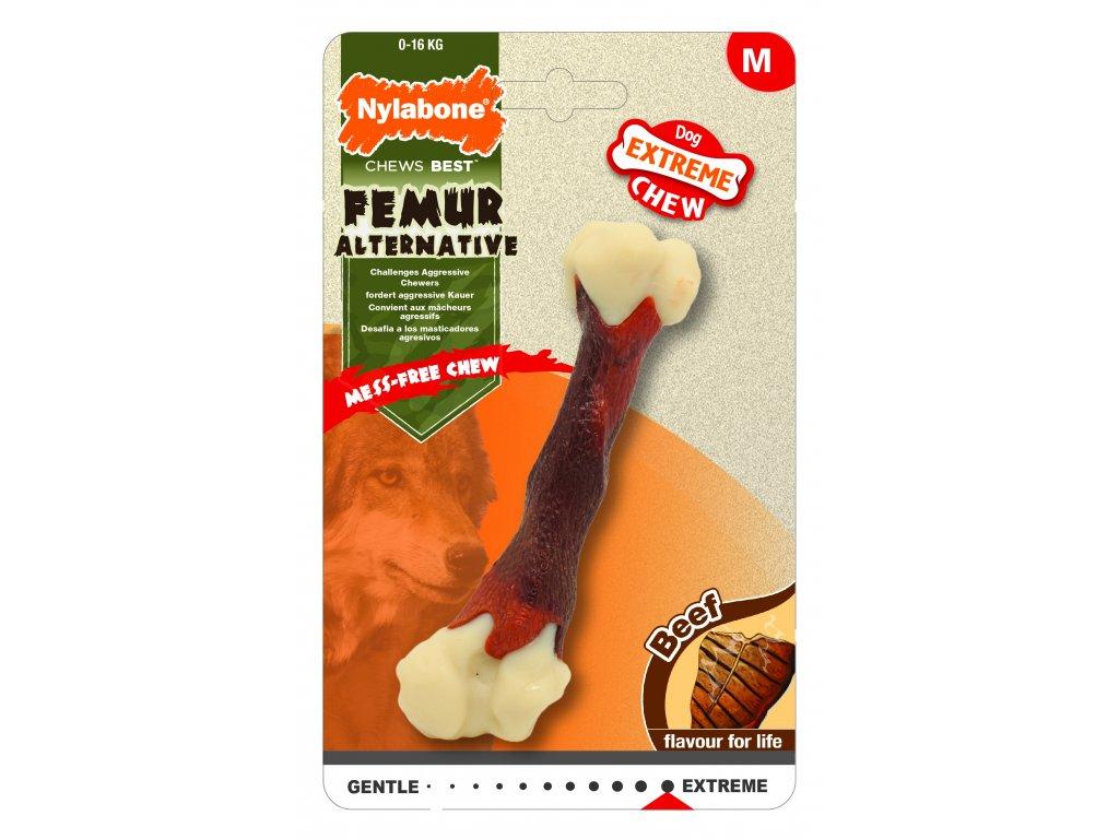 Hračka NYLAB Extreme Chew Femur Beef M