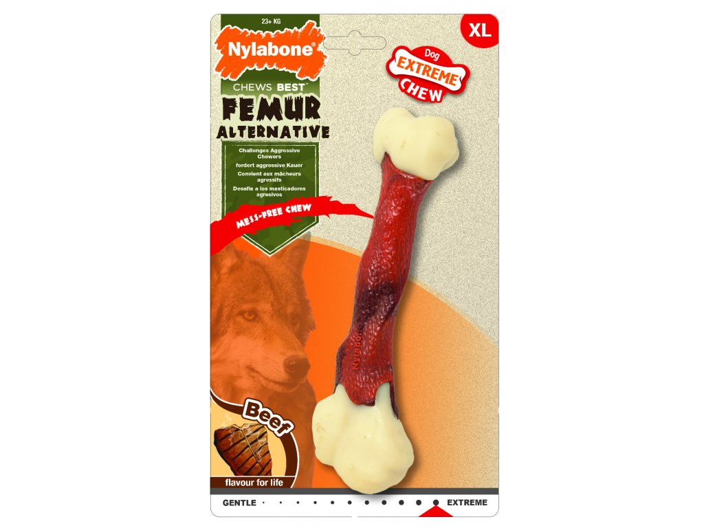 Hračka NYLAB Extreme Chew Femur Beef L