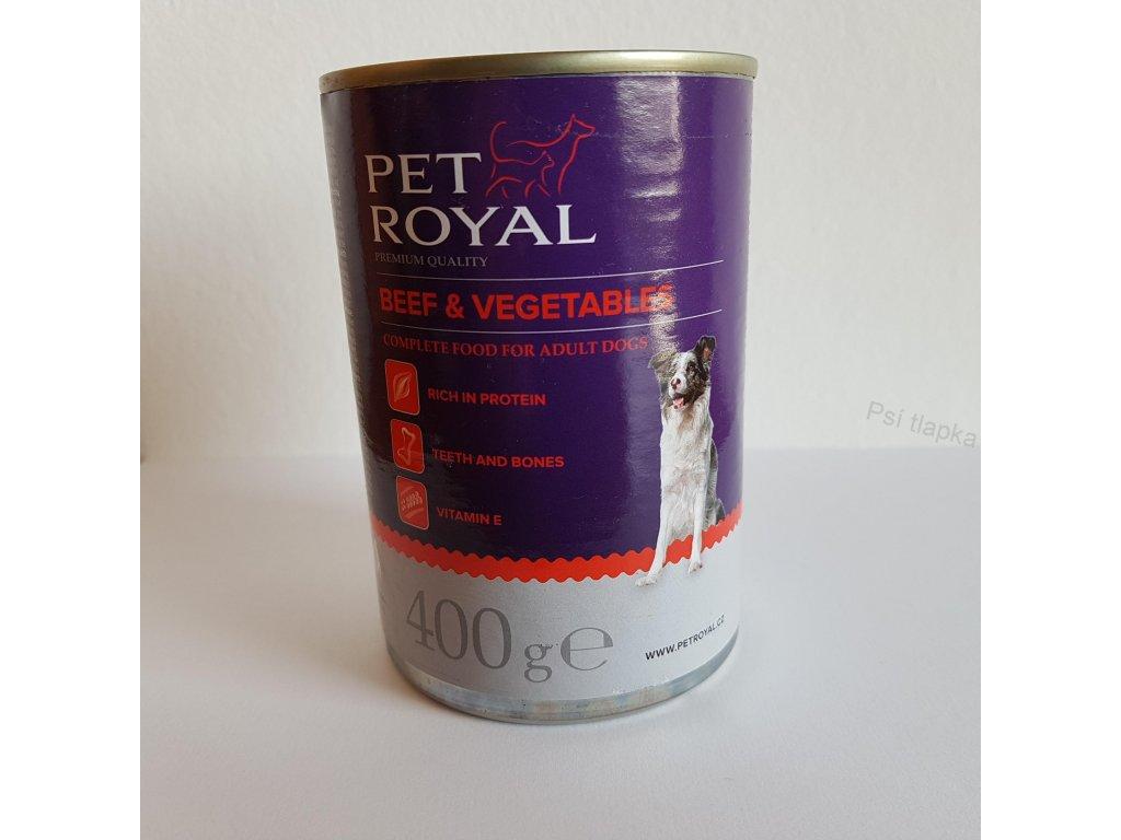 Pet Royal premium pate s hovězím a zeleninou 400g