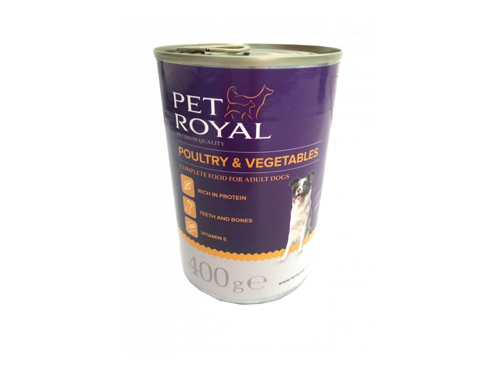 Pet Royal premium paté s drůbežím a zeleninou 400g