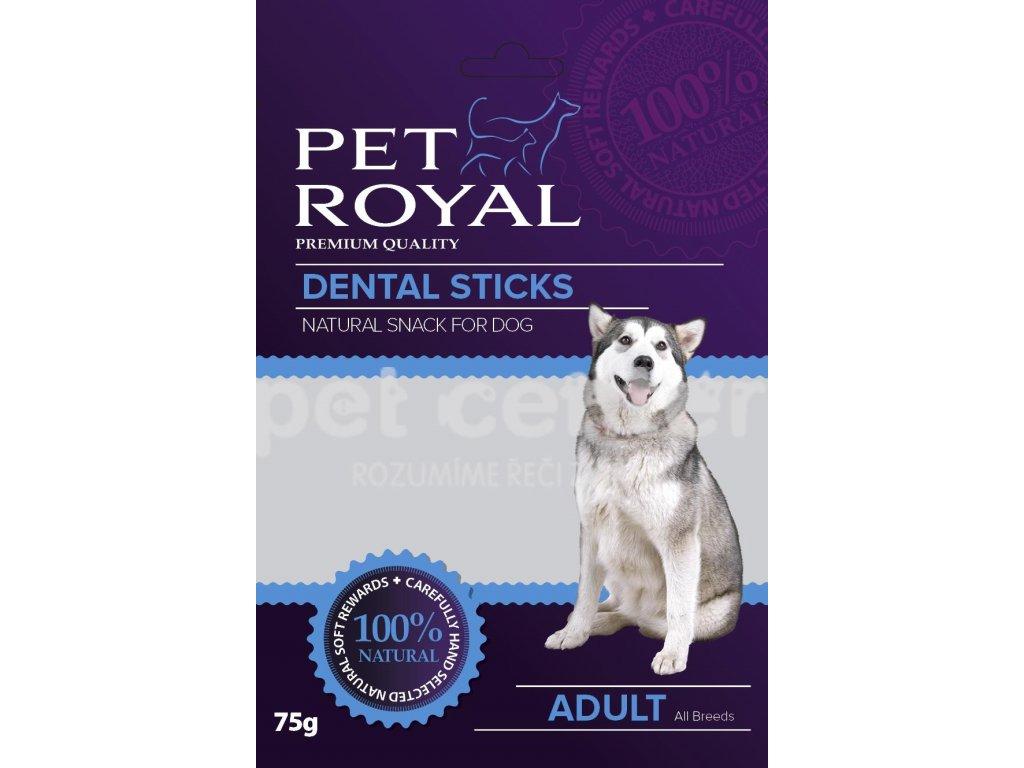 Pet Royal Dog Dental sticks zeleno-cervena 75g