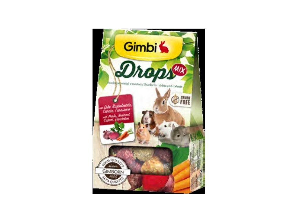Gimborn I DROPS GRAIN FREE pro hlodavce mix 50g