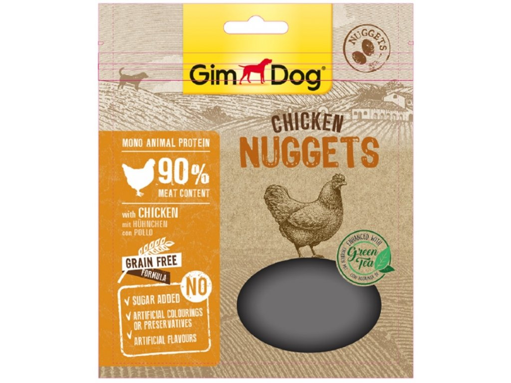 GIMDOG Supefood Chicken Nuggets se zelenym cajem 55g