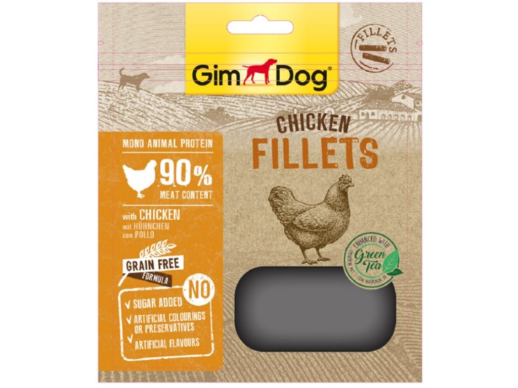 GIMDOG Chicken Fillets se zelenym cajem 60g