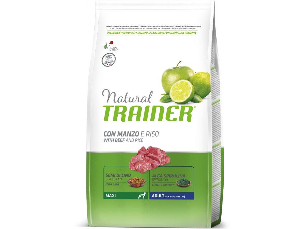 TRAINER Natural Maxi Adult Hovezi a ryze 12kg