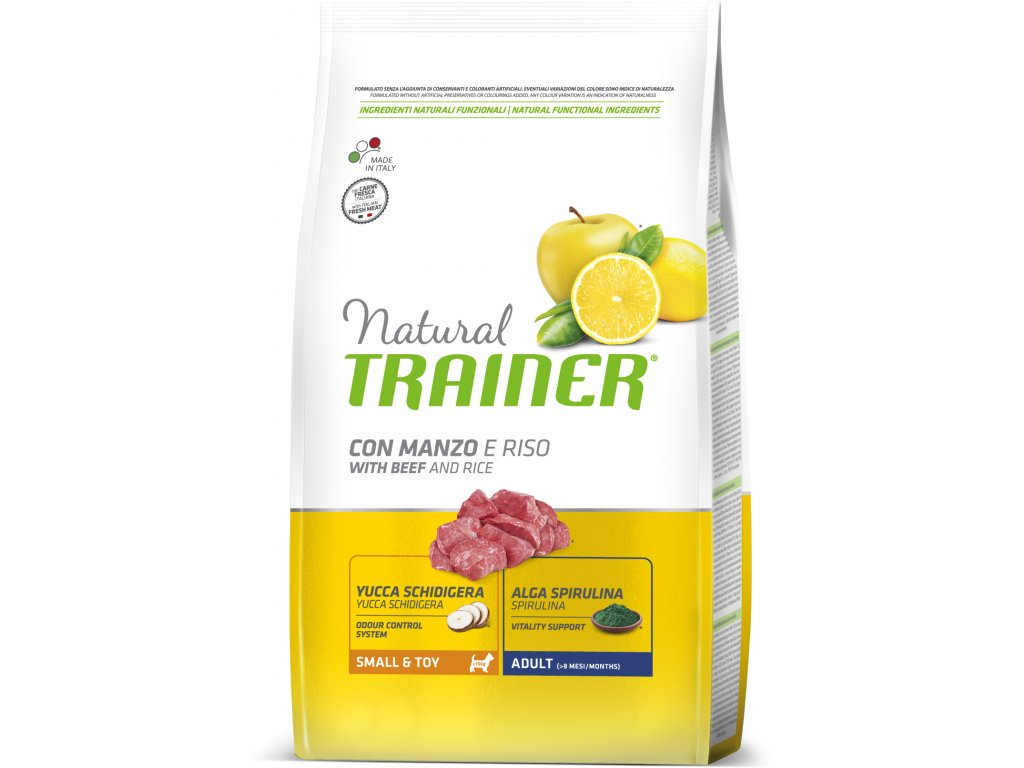 TRAINER Natural Small&Toy Adult Hovezi a ryze 7kg