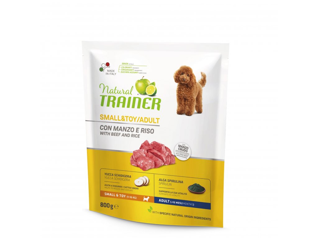 TRAINER Natural Small&Toy Adult Hovezi a ryze 800g