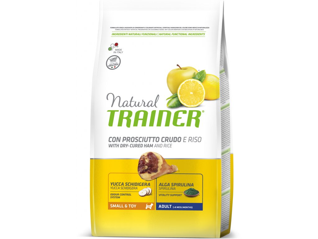 TRAINER Natural Small&Toy Adult Prosciutto a ryze 7kg