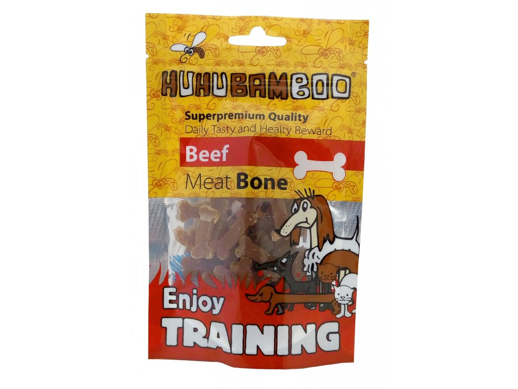 Huhubamboo Training Bone hovezi kousky 40g
