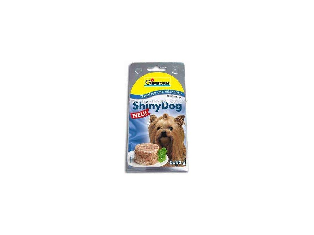 ShinyDog konzerva kuřecí+tuňák 2x85g