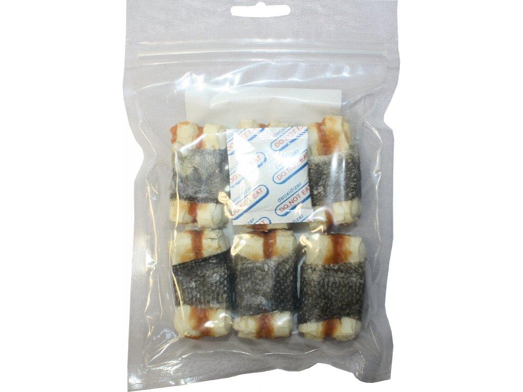 Huhubamboo kost s kurecim+rybim masem 5cm 6ks (bal.)