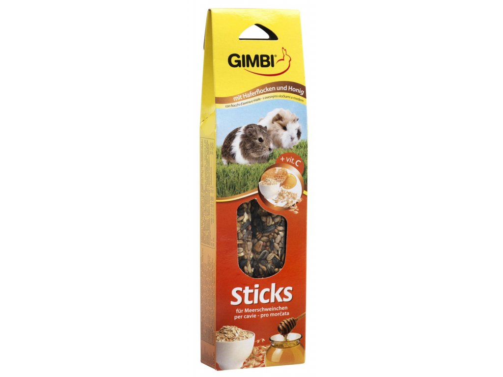 Gimbi Sticks morče med 2ks