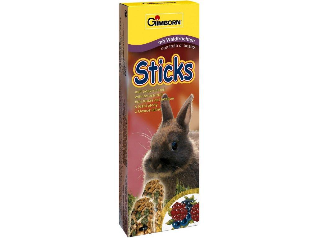 Gimbi Sticks králík lesní plody 2ks