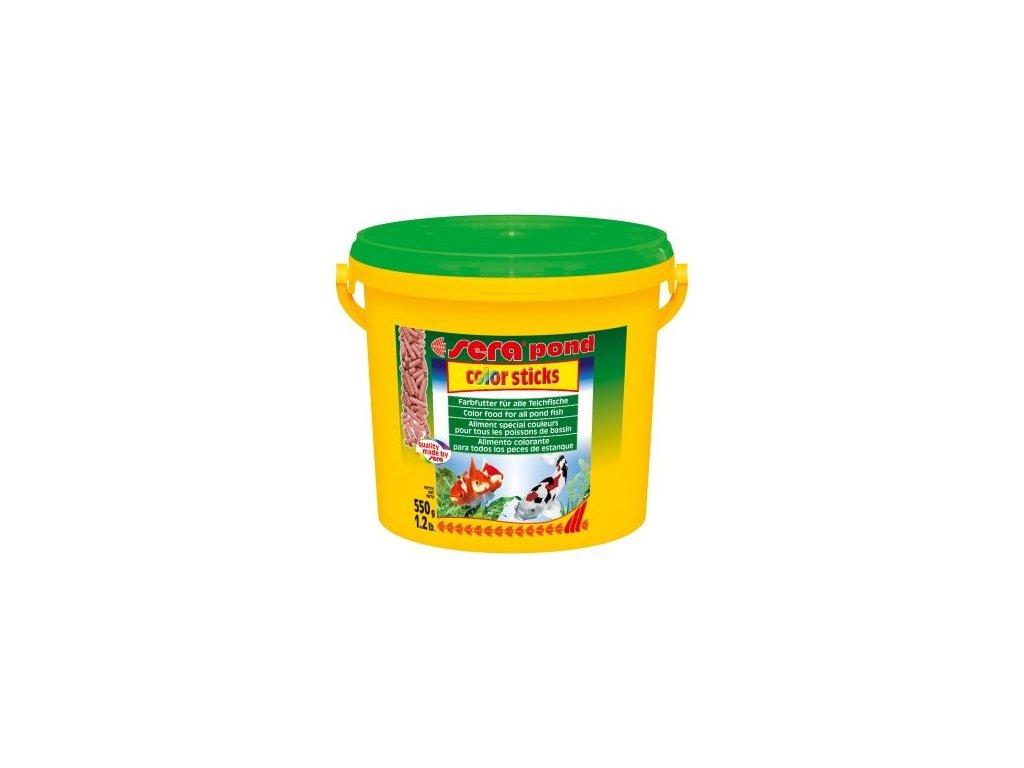 Sera vybarvovací krmivo pro zlaté a studenovodní ryby Pond Color Sticks 3,8l