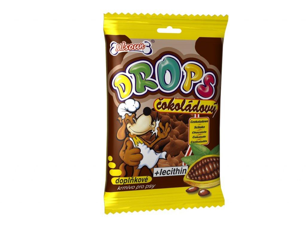 Mlsoun Drops čokoládový 75g