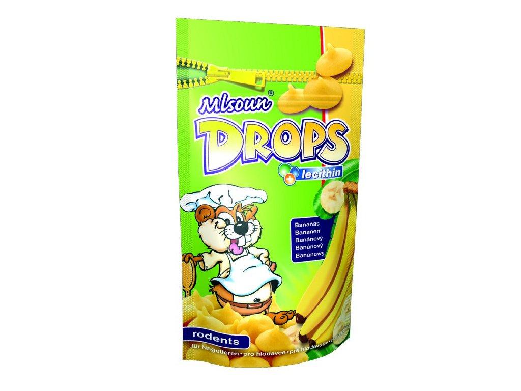 Mlsoun Drops pro hlodavce banánový 75g