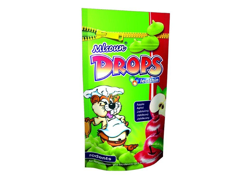 Mlsoun Drops pro hlodavce jablečný 75g