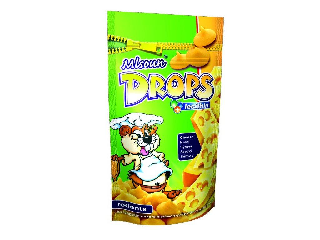 Mlsoun Drops pro hlodavce sýrový 75g