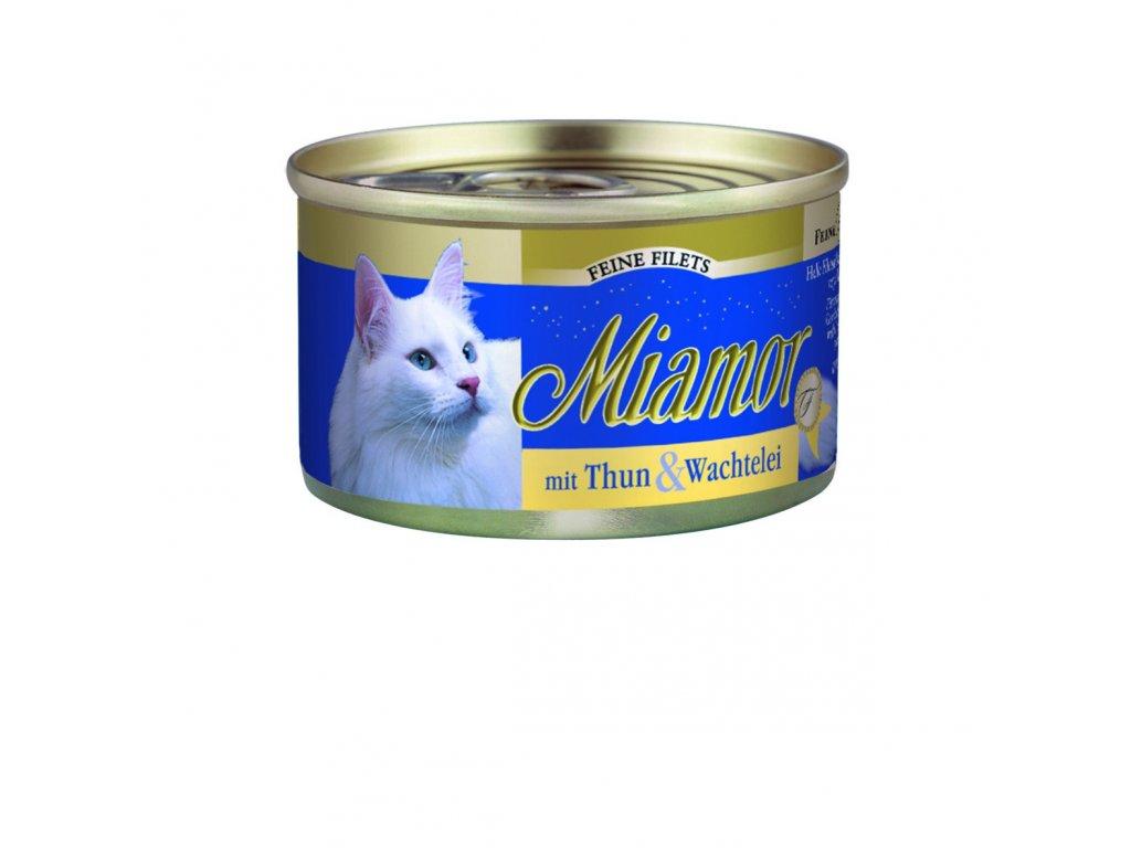 Finnern Miamor Fine Finest tuňák+křepelčí vejce konzerva 100g