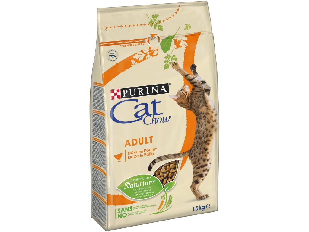 Purina Cat Chow Adult kuře+krůta 1,5kg