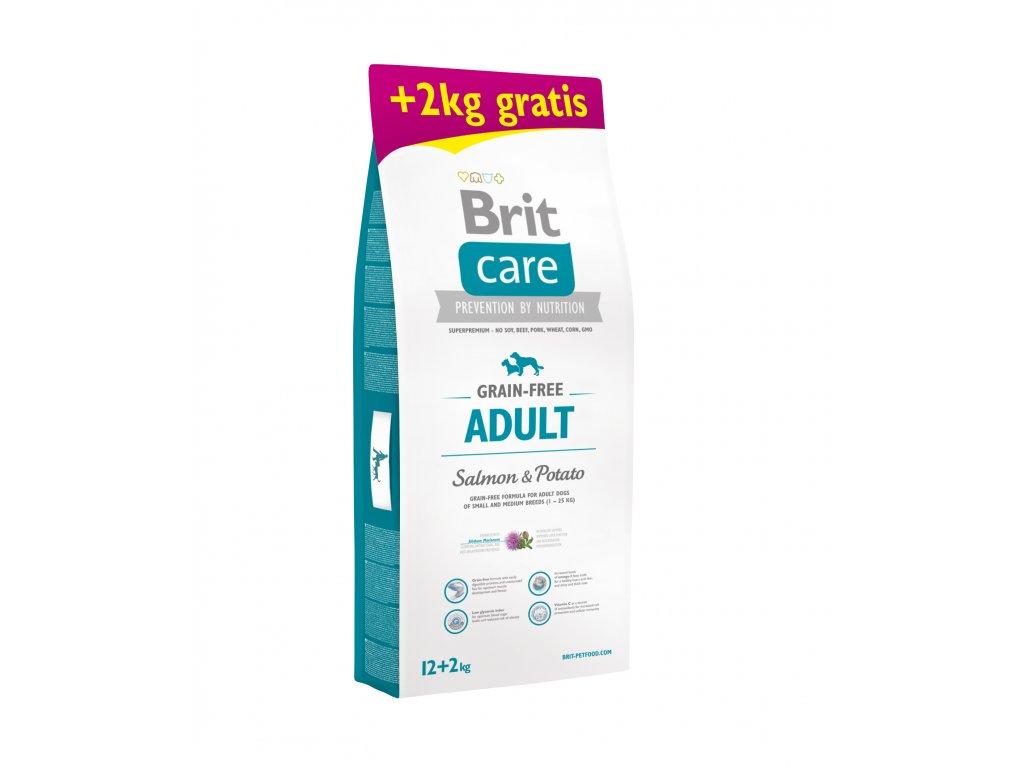 Brit Care Grain-free Adult Salmon & Potato 12+2kg ZDARMA
