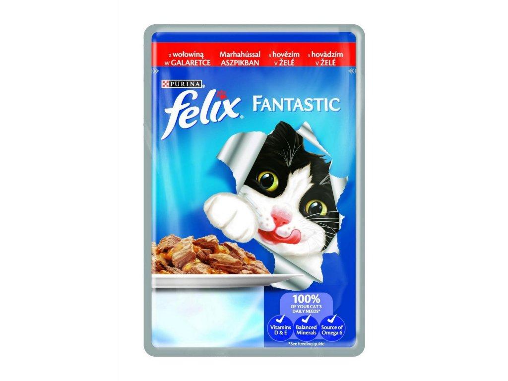 Felix Fantastic kapsička s hovězím v želé 100g